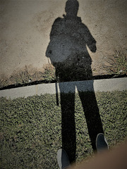 Ephemeral shadow wearing real shoes?