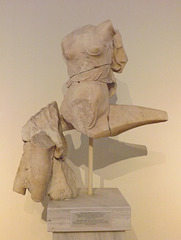 Statue of a Nereid on a Dolphin from the Athenian Agora in the National Archaeological Museum of Athens, May 2014