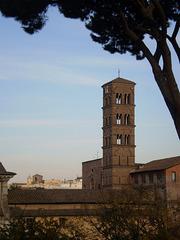 Belfry of Saint Francesca Romana Basilica.