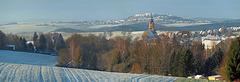 Blick über Oederan nach Augustusburg