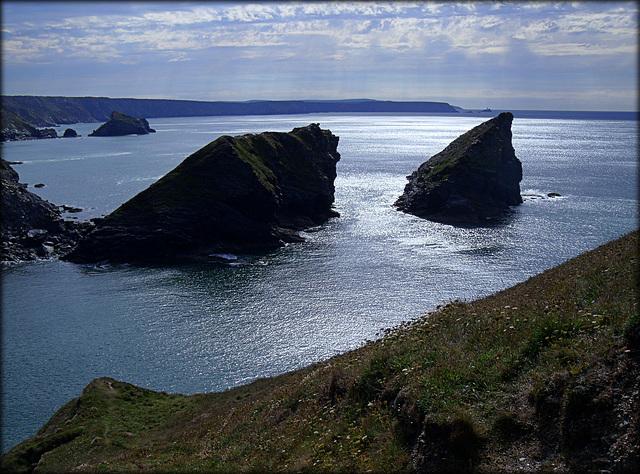 Porthcadjack, high tide.