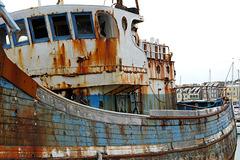 Verrostetes Schiffswrack