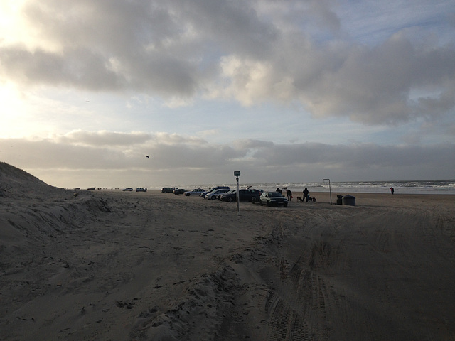 Parkplatz am Strand...