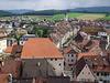 Blick über die Altstadt von Pruntrut, aufgenommen vom Schoss
