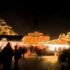Weihnachtsmarkt -  Sumi-e
