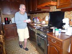 Bernard dans la cuisine