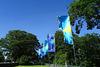 Colourful Flags In Malahide Park