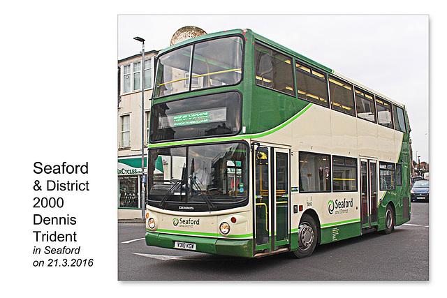 Seaford & District Dennis Trident V310 KGW - Seaford - 21.3.2016
