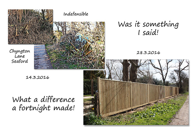The indefensible is now defensible - Seaford - 28.3.2016