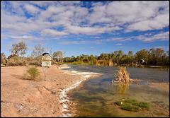 Central Australia waterhole or billabong