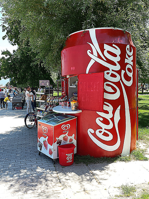 Coke stand
