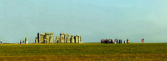Stonehenge from a coach window.