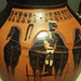 Detail of a Black Figure Amphora Attributed to the Swing Painter in the Virginia Museum of Fine Arts, June 2018