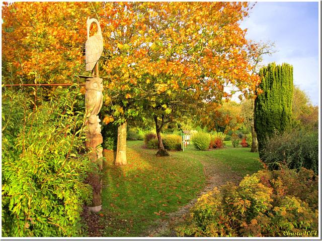 Lumière d'automne dans le jardin des sculptures