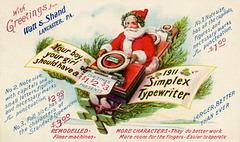 Santa Claus Delivering Simplex Typewriters, 1911