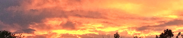 slice of sunset fire
