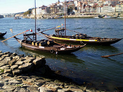 Rabelos boats on River Douro.