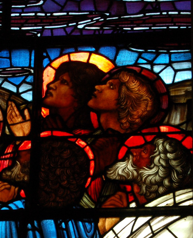 Detail of Burne Jones Glass, Birmingham Cathedral