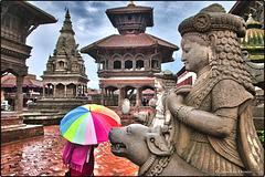 Il pleur sur Bhaktapur