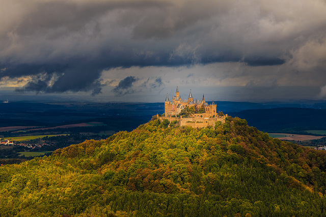 A Patch of Sunlight on a Lousy Day - Hohenzollern Castle (330°)