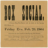 Carpet Rag Box Social, Spring Hill House, Jeffersonville, Indiana, Feb. 26, 1904