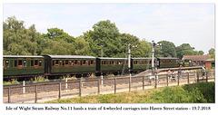 IOW Steam Railway No11 & vintage train Haven St 19 7 2018
