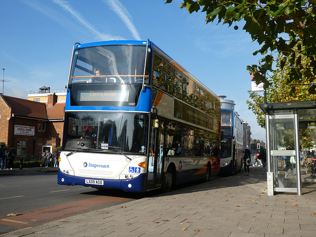 Stagecoach East (Cambus) 15087 (LX09 AGO) in Cambridge - 6 Nov 2019 (P1050053)