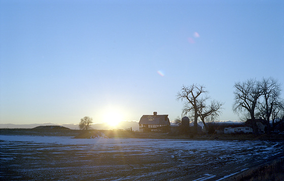 Lace Barn at Sunset