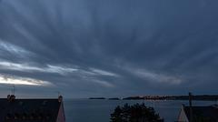 Le ciel hier soir