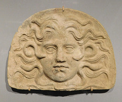 Antefix with the Head of Medusa in the Metropolitan Museum of Art, March 2018