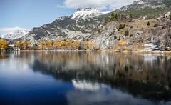 Le lac de la Roche de Rame vers Briançon.