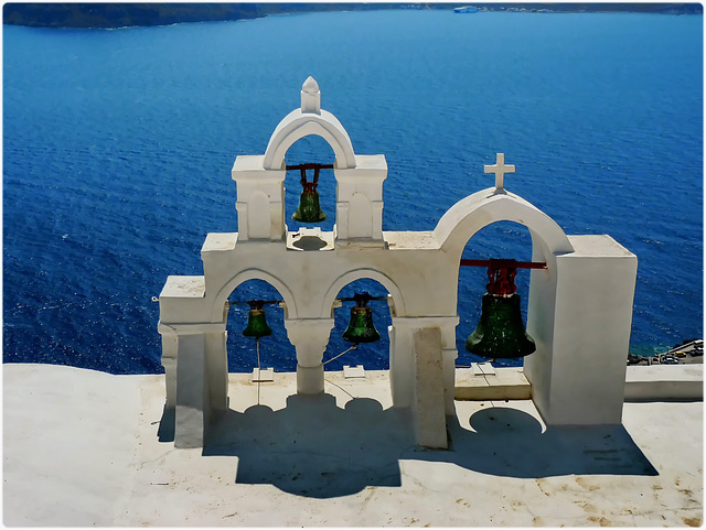 Santorini : Oia a picco sulla caldera - Ekklisia Agia Ekaterini - (993)