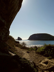 Around the rock