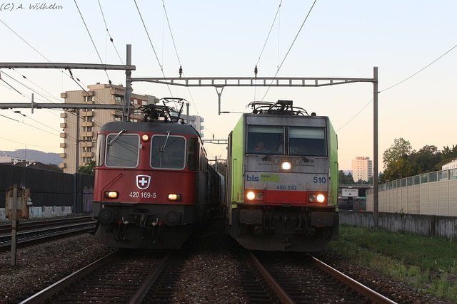Re 420 169-5 + Re 486 510-1