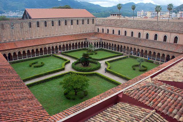 Monreale, Klostergarten, oberhalb von Palermo