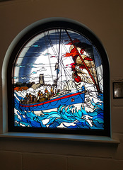 Window in Cromer lifeboat station