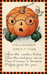 Halloween Greetings—When the Candles Flicker