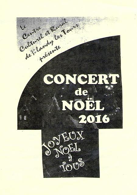 Concert de Noel à Blandy-les-Tours le 10/12/2016