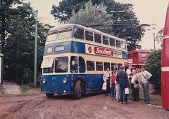 Former Ashton-under-Lyne trolleybus 87 (YTE 826) at the East Anglia Transport Museum, Carlton Colville – 6 Jul 1986 (38-16)