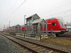 """gestrandeter"" Regionalexpress Dresden - Hof"