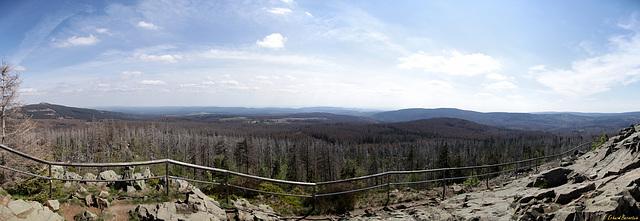Blick von der Achtermannshöhe nach Süden - HFF!