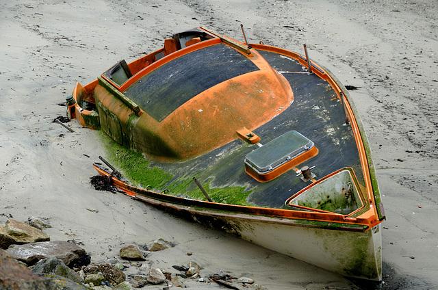 Naufragé dans le sable
