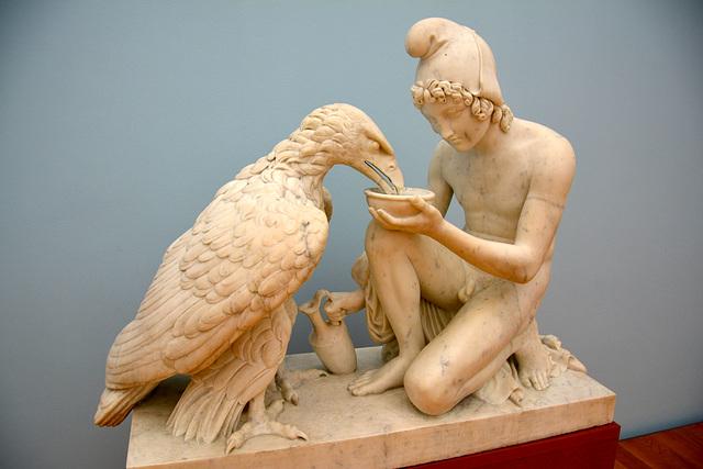 Leipzig 2015 – Museum der bildenden Künste – Ganymede and the Eagle by Bertel Thorvaldsen