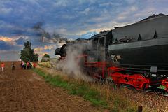 Dampf-Nebel-Rauch-Lok