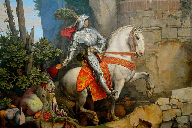 Leipzig 2015 – Museum der bildenden Künste – Knight on a white horse