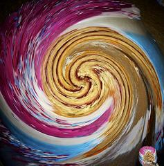 Swirly cake, with jam inside it!