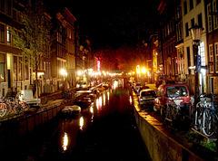 Street lamps glance / Lampadaires en folie nocturne