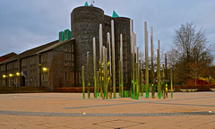 Keele University chapel and Forest of Light