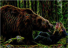 Helena et son grizzly