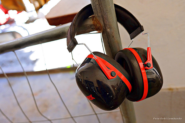 HFF to all! (on the fence: ear defenders for workers on construction sites)